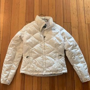 Women's North Face White Puffer Jacket